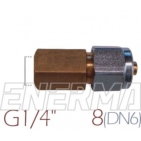 Złączka do rury PCV Ø8 / G1/4
