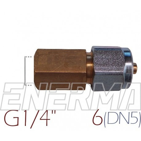 Złączka do rury PCV Ø6 / G1/4