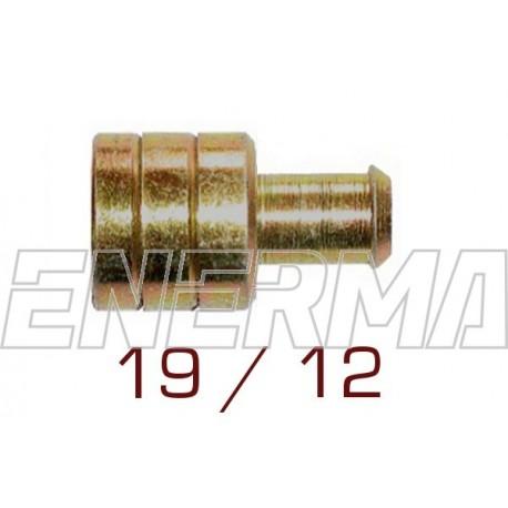 12/19mm - mosiężna złączka przewodu gumowego